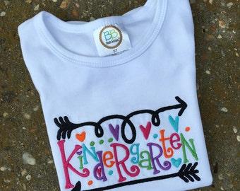 Kindergarten First day of School Shirt