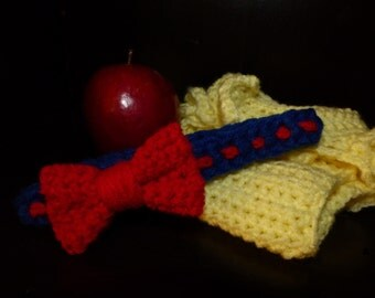 Snow White Inspired Headband and Diaper Cover Set