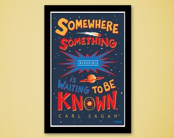Carl Sagan Quote Typographic 11x17 PRINT