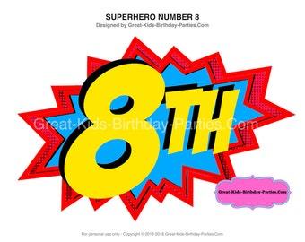 Superhero Printables Number 8