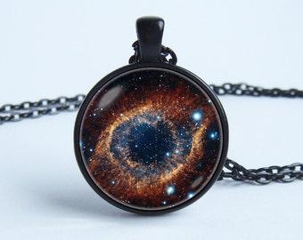 Nebula Helix Necklace cosmos Nebula necklace Nebula pendant Galaxy jewelry Cosmos pendant Space necklace Galaxy necklace Gift under Universe