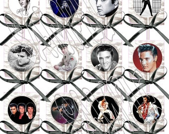 King of Rock and Roll Elvis Presley Lollipops w/ Black Bows Party Favors (12)