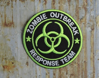 Zombie Outbreak Response Team Embroidered Iron On Or Sew On Patch