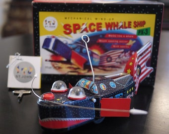Pinoneer Space Whale Tin toy by St. John