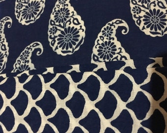 2.5m EACH of printed super soft cotton and mulmul combination fabric