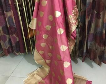 Silk and Chanderi Saree
