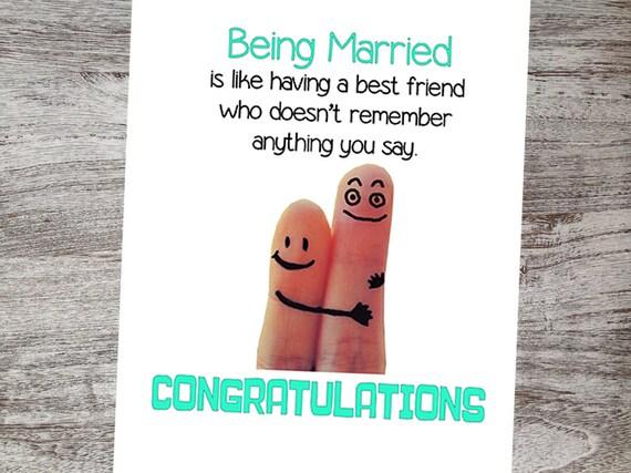 Funny Wedding Congratulations Card Greeting
