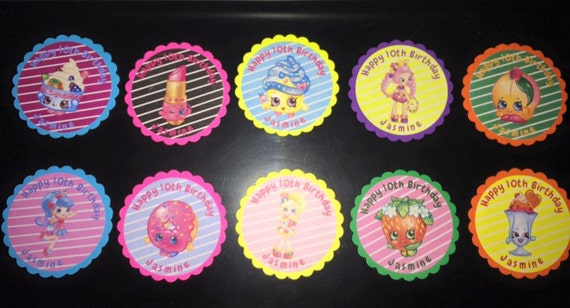 Cupcake Toppers, Shopkins by MarlasPartyCrafts | Catch My Party