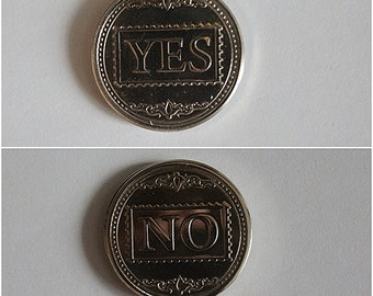 The coin of decision YES-NO