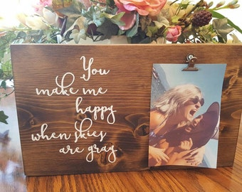 Photo display, picture frame, birthday, anniversary, wedding, bridal shower, personalized gift, wedding gift, photo holder, picture holder