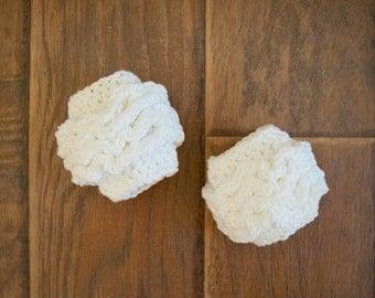 Newborn Crochet White Ruffle Leggings