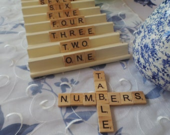 Wedding Table Numbers | Event Table Numbers | Scrabble Alternative Table Numbers | Event Table Numbers | Rustic Weddings | Table Name Signs