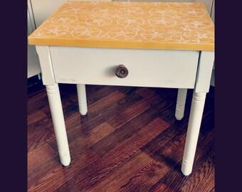 Retro Rustic Side Table