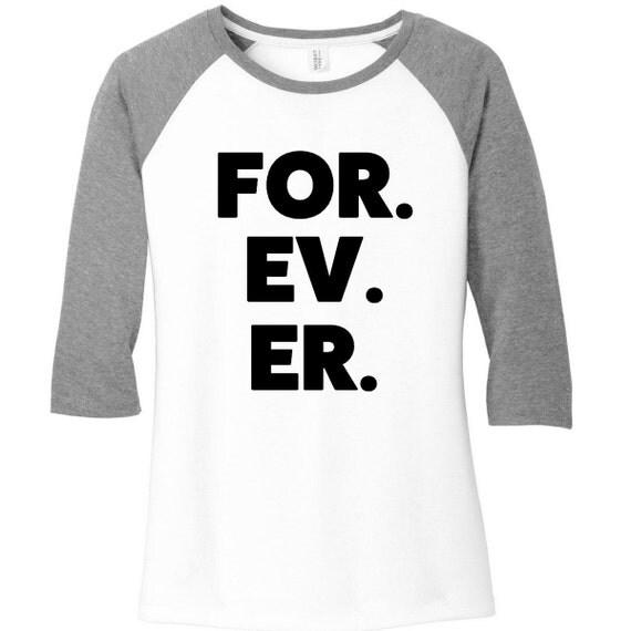 FOR EV ER Baseball Raglan 2 Tone 3/4 Sleeve Womens Tops, 5 Colors, Sizes Small-4X, Plus Size