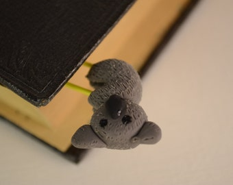 Polymer Clay KOALA Bookmark Paperclip