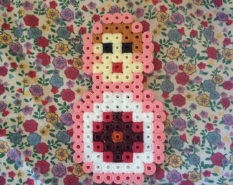 Geek pixel art matryoshka brooch