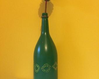 XL  green vase