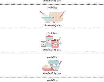 Let's Bake Label/Wrapper - PDF FILE ONLY