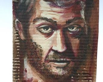 "painting on cardboard ""Bertrand"""