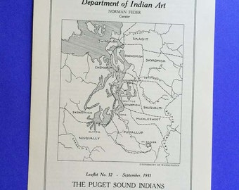 Puget Sound Indians, names, locations and culture