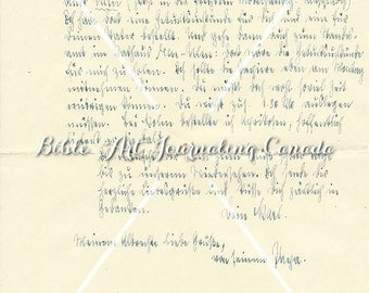 digital download 4 antique handwritten letters in Suetterlin script