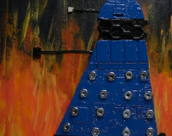 Blue Dalek inspired by Doctor Who