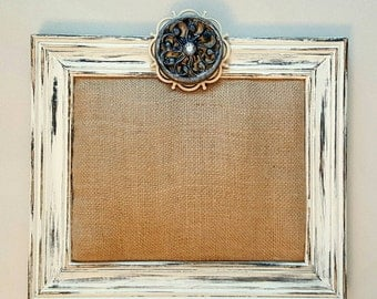 Rustic Shabby Chic Pin-Cushion Picture Frame