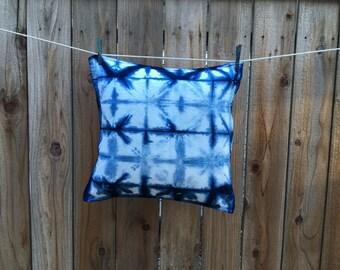 Hand Dyed Indigo Shibori Pillow Cover