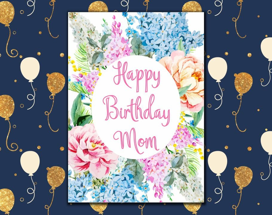 It is a picture of Smart Free Printable Birthday Cards for Mom