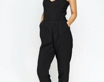 Bandeau Style Jumpsuit Black UK SIZES  10/12, 12/14