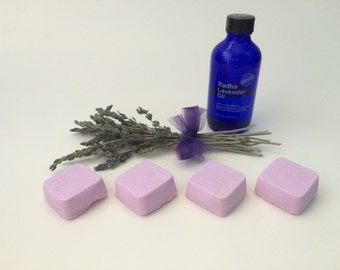 Stress Less Shower Steamers, Handmade Shower Melts, Long Lasting Shower Bombs, Aromatherapy Bath Oils, Gifts for Everyone, All Natural