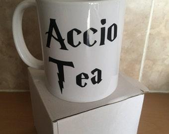 Accio Tea @Harry Potter #Griffindor tea mug, coffee mug, beer mug wizards mug,