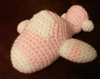 Handmade Crochet Amigurumi Plane Stuffed Soft Toy