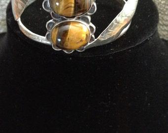 Sterling Silver & Tigers Eye Cuff Bracelet