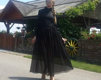black dresses women, women black dresses, elegant dress, women sleeves dress, dress turtleneck, cotton dress, winter dress, dress women
