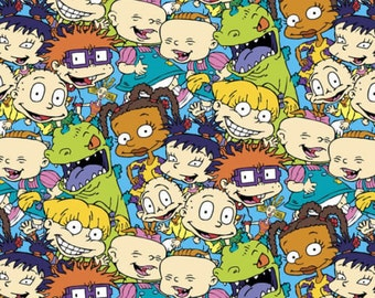 "Cartoon Fabric - Nickelodeon Rugrats Packed Characters by Springs Creative 100% cotton fabric 44"" wide ***SC19***"