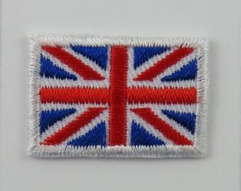 TINY United Kingdom Flag Iron-on Embroidered Cloth Patch Badge Appliqué Great Britain British Union Jack UK Seller TINY size 3cm x 2cm