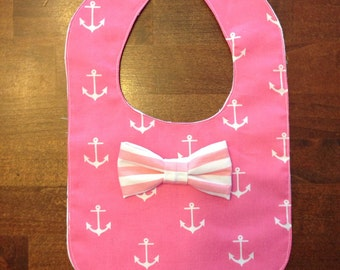 Nautical themed bibs for girls.