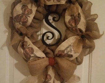 "Natural Burlap with""Perfect Moments"" Ribbon Accent"