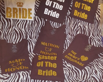 Wedding party t shirts