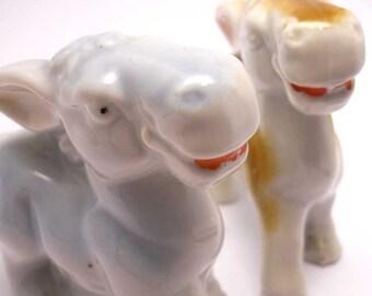 Donkey Figurines Japan China Vintage