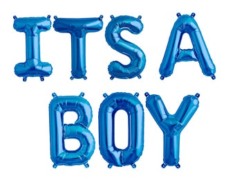 ITS A BOY Balloon Banner