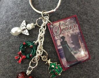 Tis Her Season Book Cover Key Chain