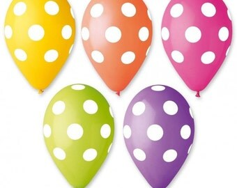 Set 10 PCs 35 cm polka dots polka dot balloons balloons
