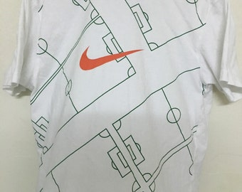 Vintage 90's Nike Field Design Shirt Size XL #B5