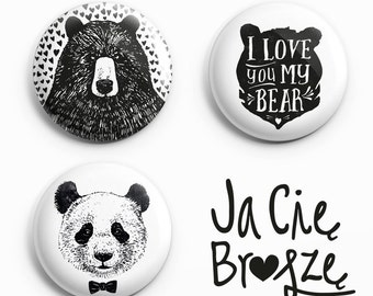 Bears- set of three pins
