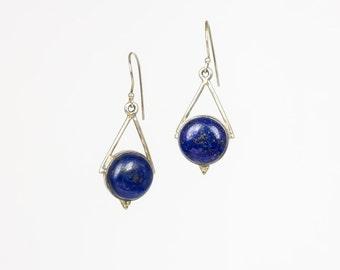 Silver Lapis Lazuli earrings