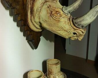 Rhino Sculpture Etsy
