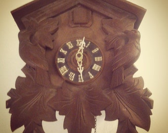 Items similar to vintage german coo coo clock on etsy - Coo coo clock pendulum ...