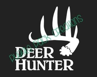 Deer Hunter adhesive vinyl car decal